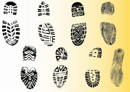 pokerman (artist) - 8 Shoeprints - Highly detailed transparent vectors so they can be overliad onto other graphic elements Stock Photo - Budget Royalty-Free & Subscription, Code: 400-04590884
