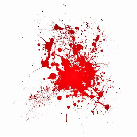 paint dripping abstract pattern - Inky blood splat with a red abstract shape Stock Photo - Budget Royalty-Free & Subscription, Code: 400-04592896