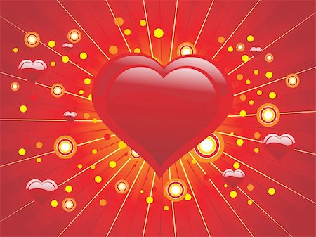 red background with love design illustration Stock Photo - Budget Royalty-Free & Subscription, Code: 400-04593176