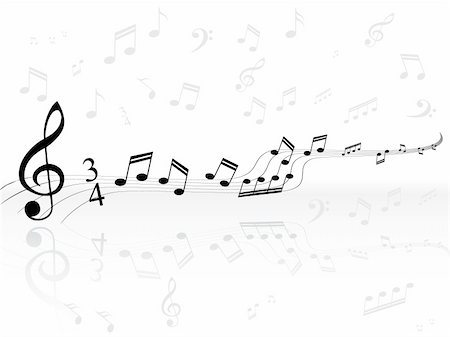 simsearch:400-04676325,k - musical background with black classical notes on white that can be scaled to any size Stock Photo - Budget Royalty-Free & Subscription, Code: 400-04593214
