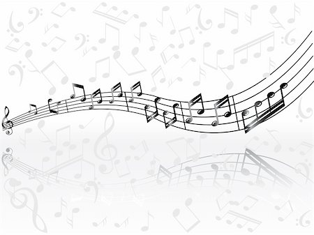 simsearch:400-04676325,k - musical background with black classical notes on white that can be scaled to any size Stock Photo - Budget Royalty-Free & Subscription, Code: 400-04593216