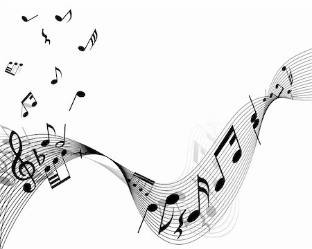 quarter note - Musical notes stuff vector background for use in design Stock Photo - Budget Royalty-Free & Subscription, Code: 400-04605605