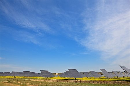 Solar panels in the power plant for renewable energy Stock Photo - Budget Royalty-Free & Subscription, Code: 400-04606088