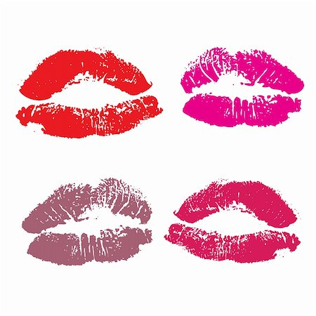 simsearch:400-04801287,k - Lips, kiss colored Stock Photo - Budget Royalty-Free & Subscription, Code: 400-04606374