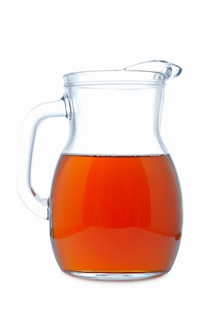 Ice tea pitcher with soft shadow on white background Stock Photo - Budget Royalty-Free & Subscription, Code: 400-04607145