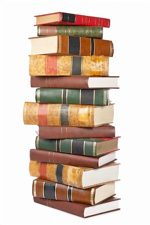 Pile of books isolated on white background Stock Photo - Budget Royalty-Free & Subscription, Code: 400-04607529
