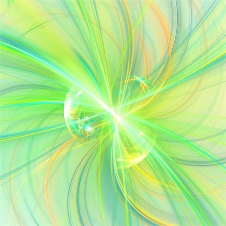 Abstract background. Yellow- green palette. Raster fractal graphics. Stock Photo - Budget Royalty-Free & Subscription, Code: 400-04607907