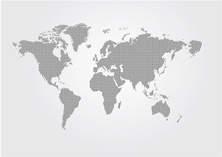 A Map Of The World on white background Stock Photo - Budget Royalty-Free & Subscription, Code: 400-04601268