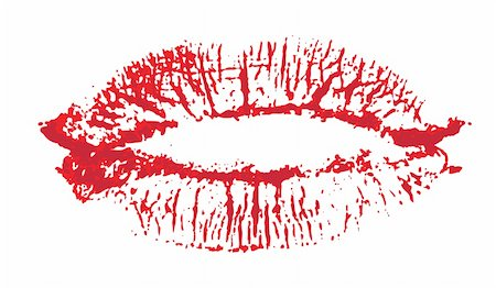 simsearch:400-04597082,k - Lips, kiss colored Stock Photo - Budget Royalty-Free & Subscription, Code: 400-04602377