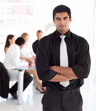 Young Confident and attractive business leader Stock Photo - Budget Royalty-Free & Subscription, Code: 400-04602782