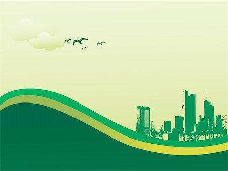 vector illustration of  city skyline.jpg Stock Photo - Budget Royalty-Free & Subscription, Code: 400-04603223