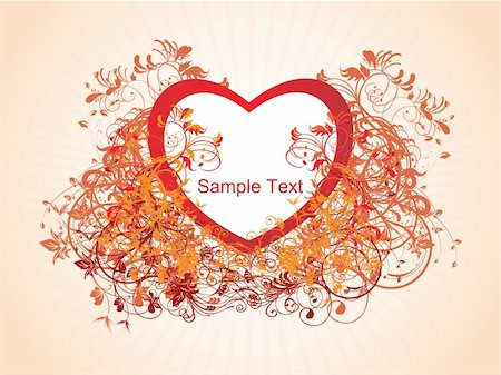 valentine background with swirl illustration vector Stock Photo - Budget Royalty-Free & Subscription, Code: 400-04603394
