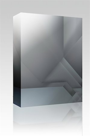 silver box - Software package box Abstract background design with smooth metallic  angular geometric shapes Stock Photo - Budget Royalty-Free & Subscription, Code: 400-04614131