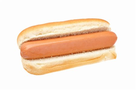 A hot dog isolated on white background. Shallow depth of field Stock Photo - Budget Royalty-Free & Subscription, Code: 400-04615061