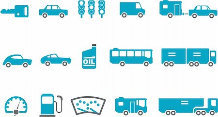 Vector icons pack - Blue Series, transport collection Stock Photo - Budget Royalty-Free & Subscription, Code: 400-04615294