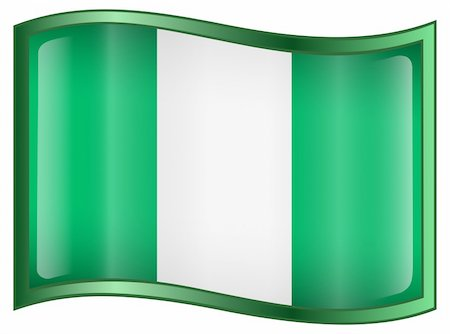 Vector - EPS 9 format. Image - Nigeria Flag Icon, isolated on white background. Stock Photo - Budget Royalty-Free & Subscription, Code: 400-04615826