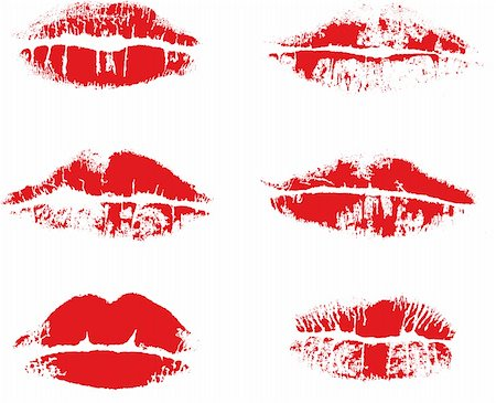 simsearch:400-04801287,k - Abstract vector inprint of lips Stock Photo - Budget Royalty-Free & Subscription, Code: 400-04617306