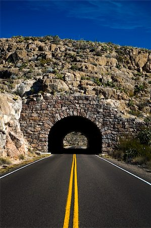 Image of a highway going into a tunnel Stock Photo - Budget Royalty-Free & Subscription, Code: 400-04610467