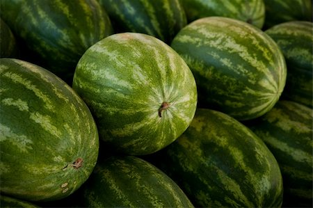 Close-up image of several watermelons Stock Photo - Budget Royalty-Free & Subscription, Code: 400-04610463