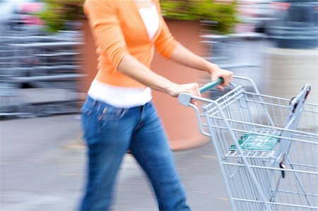 empty shopping cart - Supermarket Shopper Stock Photo - Budget Royalty-Free & Subscription, Code: 400-04611024