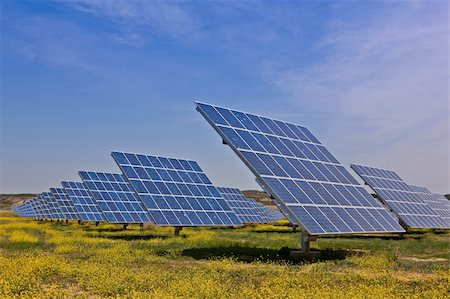 Solar panels in the power plant for renewable energy Stock Photo - Budget Royalty-Free & Subscription, Code: 400-04611811
