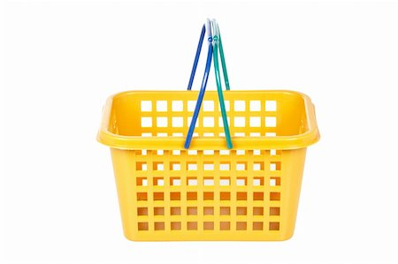 A empty shopping basket isolated on white background Stock Photo - Budget Royalty-Free & Subscription, Code: 400-04613856