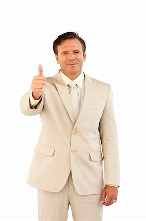 Portrait of business person with thumbs up Stock Photo - Budget Royalty-Free & Subscription, Code: 400-04624937