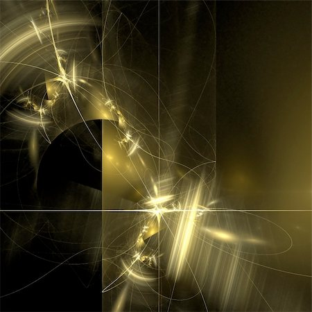 Abstract background. Black - yellow palette. Raster fractal graphics. Stock Photo - Budget Royalty-Free & Subscription, Code: 400-04626644
