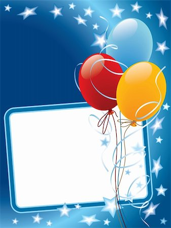 party celebration paper confetti - Party decoration with copy space, balloons and stars Stock Photo - Budget Royalty-Free & Subscription, Code: 400-04628279