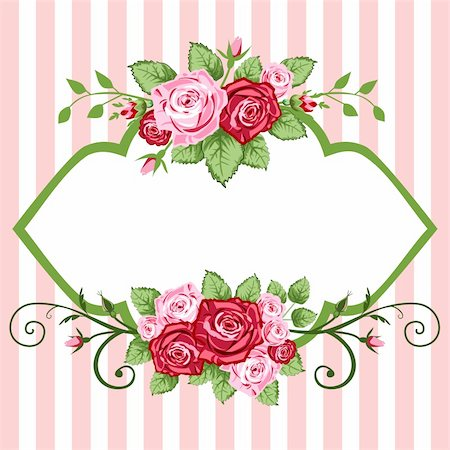 simsearch:400-04872199,k - Victorian roses frame for greetings cards or backgrounds. Stock Photo - Budget Royalty-Free & Subscription, Code: 400-04628361