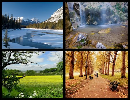 four seasons Stock Photo - Budget Royalty-Free & Subscription, Code: 400-04621087