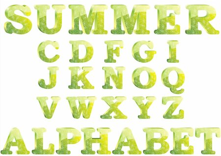 fancy letters - cute summer glass 3d alphabet Stock Photo - Budget Royalty-Free & Subscription, Code: 400-04622661