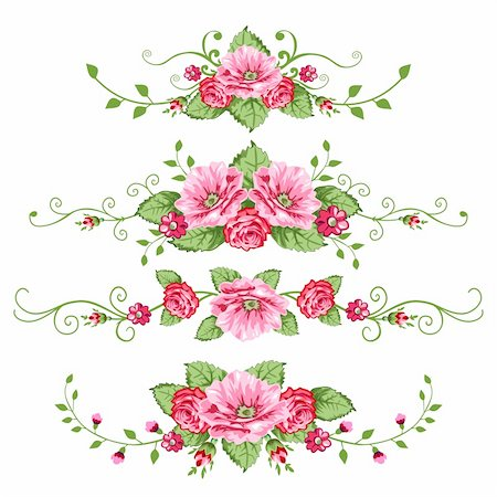 elakwasniewski (artist) - Banner in the victorian style with roses. Design elements for your design. Stock Photo - Budget Royalty-Free & Subscription, Code: 400-04622777