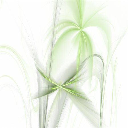 Abstract elegance background. Green - white palette. Raster fractal graphics. Stock Photo - Budget Royalty-Free & Subscription, Code: 400-04634660