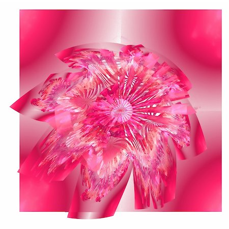 pink and purple fireworks - Abstract elegance background. White - pink palette. Raster fractal graphics. Stock Photo - Budget Royalty-Free & Subscription, Code: 400-04636130