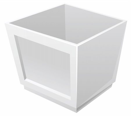 a grey box isolate in a white background Stock Photo - Budget Royalty-Free & Subscription, Code: 400-04637805