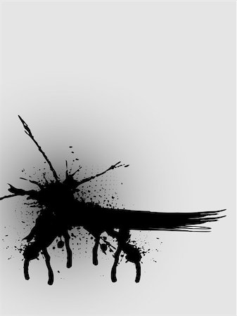 paint dripping abstract pattern - Paint splat design. Available in jpeg and eps8 formats. Stock Photo - Budget Royalty-Free & Subscription, Code: 400-04637921