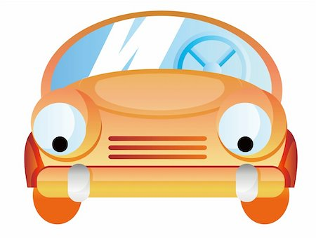 Cartoon car isolate in a white background Stock Photo - Budget Royalty-Free & Subscription, Code: 400-04638588