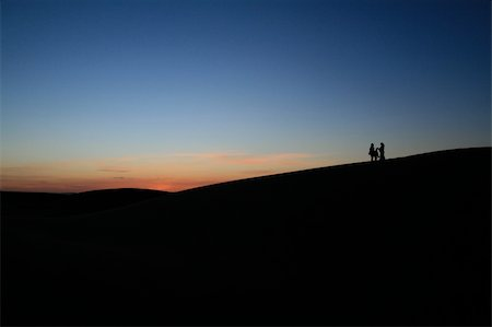 Dusk in the Sahara near Merzouga, Morocco Stock Photo - Budget Royalty-Free & Subscription, Code: 400-04633581