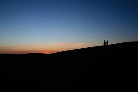 Dusk in the Sahara near Merzouga, Morocco Stock Photo - Budget Royalty-Free & Subscription, Code: 400-04633581