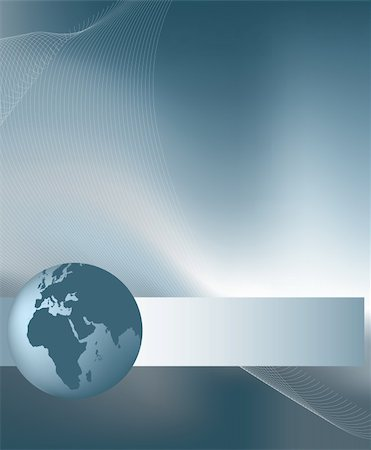 Background illustration for business with silver globe Stock Photo - Budget Royalty-Free & Subscription, Code: 400-04646113