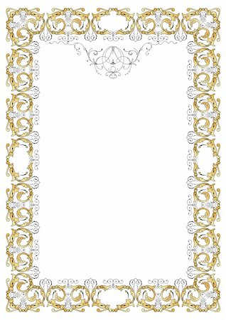 filigree tree - Ornate frame vector Stock Photo - Budget Royalty-Free & Subscription, Code: 400-04647661