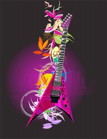guitar Stock Photo - Budget Royalty-Free & Subscription, Code: 400-04649446
