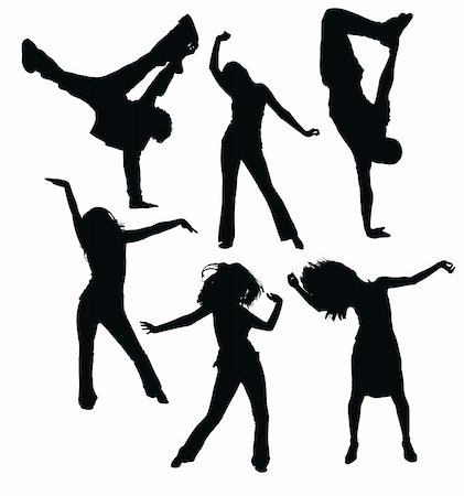 simsearch:400-04222950,k - dancing people silhouettes Stock Photo - Budget Royalty-Free & Subscription, Code: 400-04640160