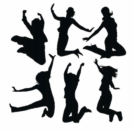 simsearch:400-04222950,k - jumping people silhouettes Stock Photo - Budget Royalty-Free & Subscription, Code: 400-04640171