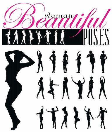 simsearch:400-04222950,k - woman silhouettes vector illustration Stock Photo - Budget Royalty-Free & Subscription, Code: 400-04640184