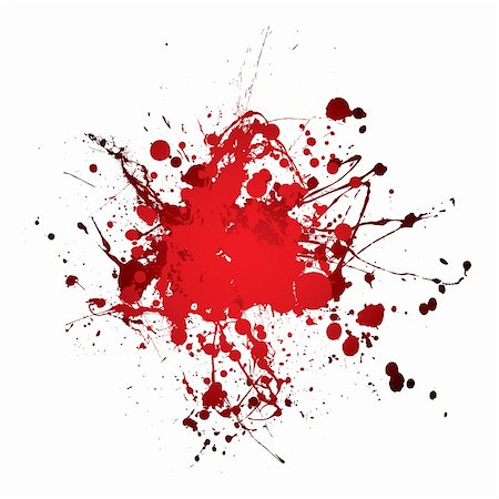 grunge blood ink splat abstract shape with room for text Stock Photo - Budget Royalty-Free & Subscription, Code: 400-04641682