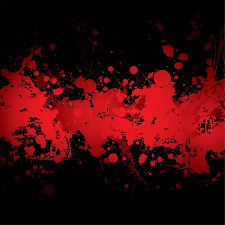 abstract blood red ink splat banner with black background Stock Photo - Budget Royalty-Free & Subscription, Code: 400-04642597
