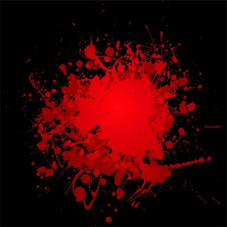 abstract blood red ink splat with black background and copyspace Stock Photo - Budget Royalty-Free & Subscription, Code: 400-04642604