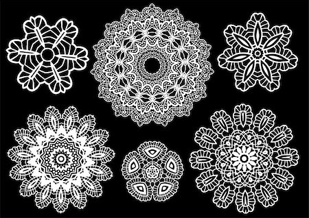 Delicate lace doilies, vector pattern Stock Photo - Budget Royalty-Free & Subscription, Code: 400-04654594